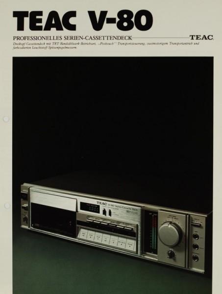 Teac V-80 Prospekt / Katalog