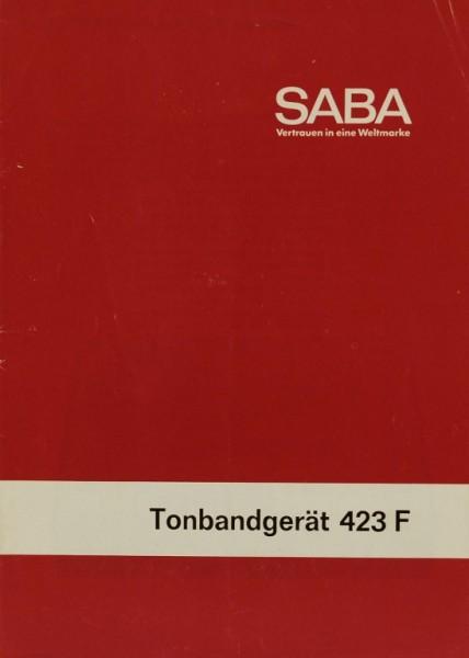 Saba 423 F Bedienungsanleitung