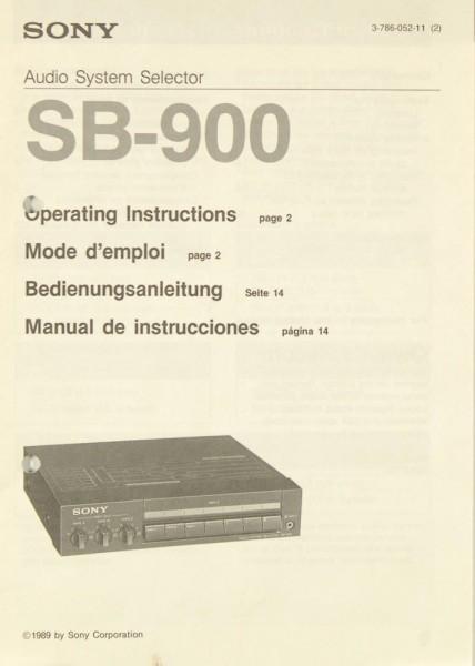 Sony SB-900 Bedienungsanleitung