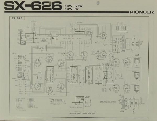Pioneer SX-626 Schaltplan / Serviceunterlagen