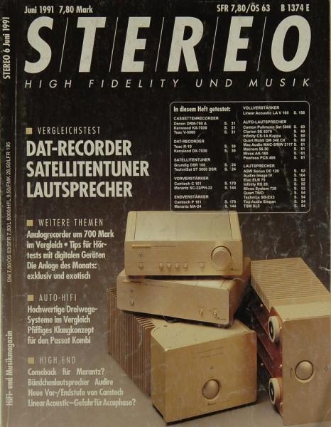 Stereo 6/1991 Zeitschrift
