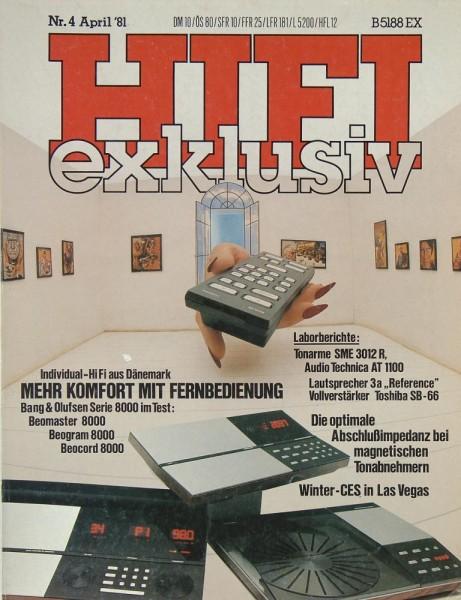 Hifi Exklusiv 4/1981 Zeitschrift