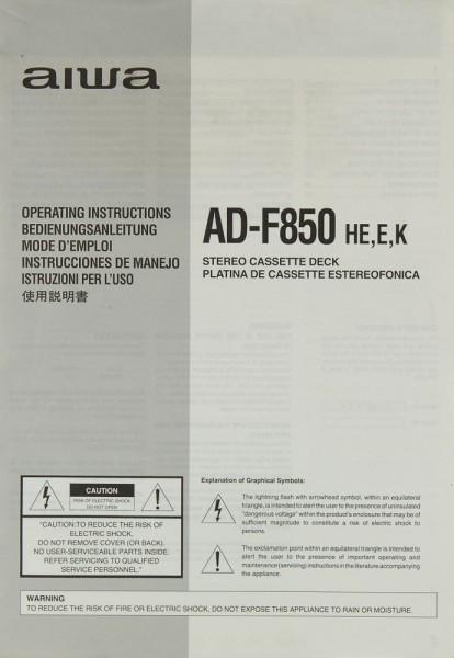 Aiwa AD-F 850 HE/E/K Bedienungsanleitung