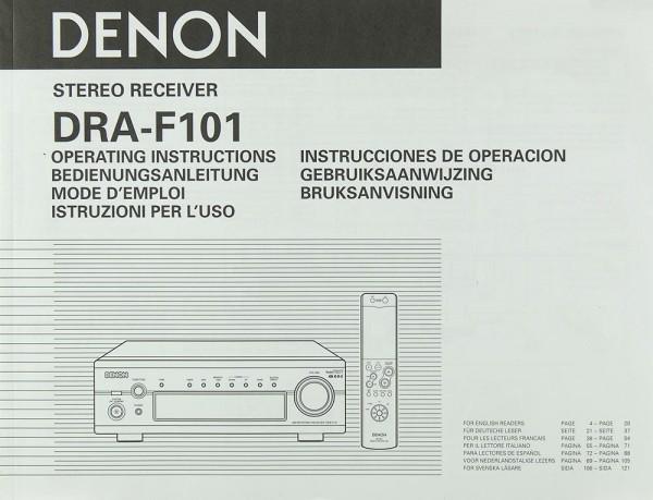 Denon DRA-F 101 Bedienungsanleitung