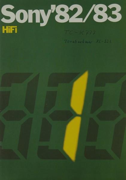 Sony Sony ´82/83 Hifi Prospekt / Katalog