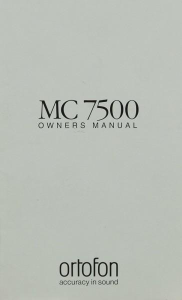 Ortofon MC 7500 Bedienungsanleitung