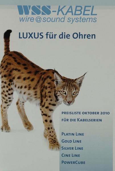 WSS Luxus für die Ohren - Preisliste Oktober 2010 Prospekt / Katalog
