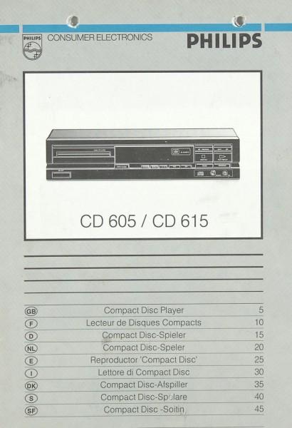Philips CD 605 / CD 615 Bedienungsanleitung