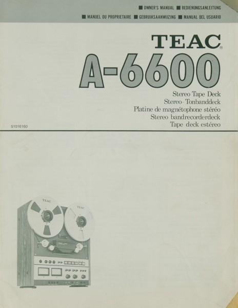 Teac A-6600 Bedienungsanleitung