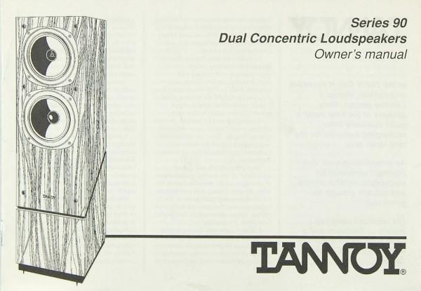 Tannoy Serie 90 Bedienungsanleitung