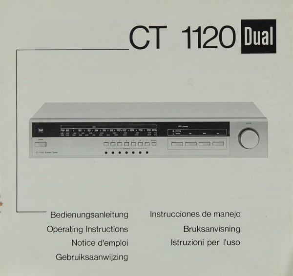 Dual Ct 1120 Manual Tuners Dual Manuals Hifi Literature