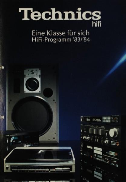 Technics Eine Klasse für sich. HiFi Programm ´83/´84 Prospekt / Katalog