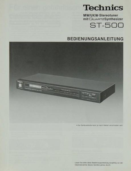 Technics ST-500 Bedienungsanleitung