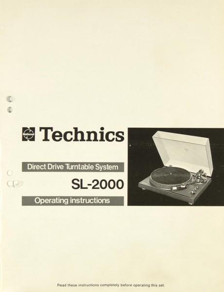 Technics SL-2000 Bedienungsanleitung