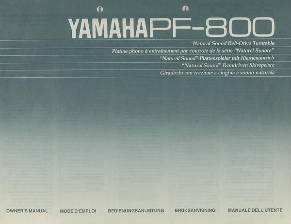 Yamaha PF-800 Bedienungsanleitung