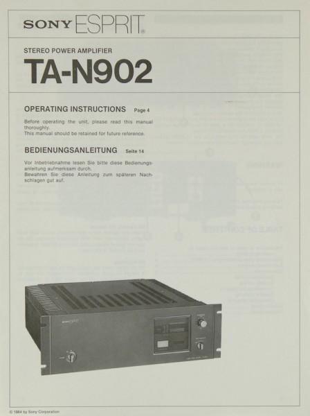 Sony TA-N 902 Bedienungsanleitung
