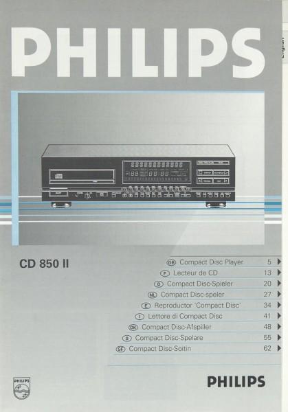 Philips CD 850 II Bedienungsanleitung