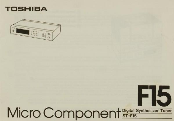 Toshiba F 15 Bedienungsanleitung