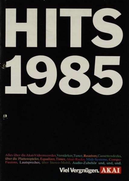 Akai Hits 1985 Prospekt / Katalog