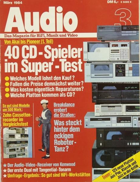 Audio 3/1984 Zeitschrift