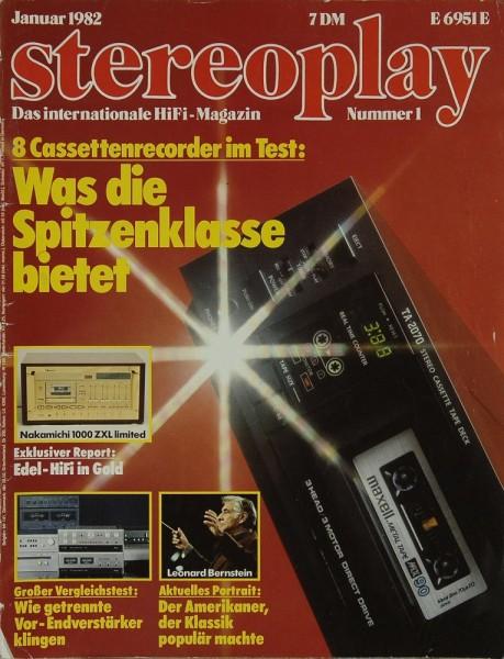 Stereoplay 1/1982 Zeitschrift