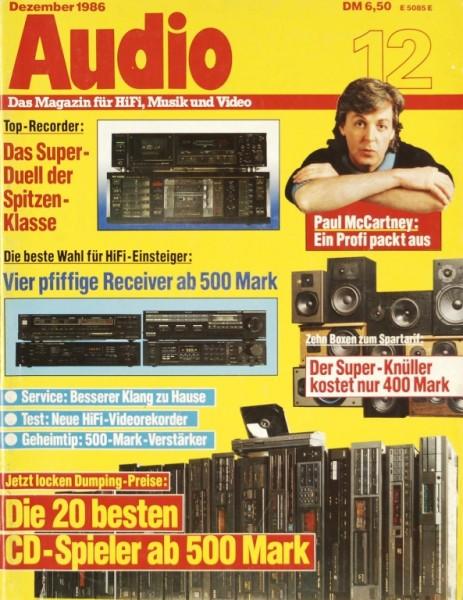 Audio 12/1986 Zeitschrift