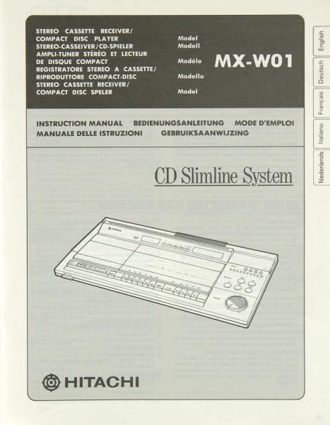 Hitachi MX-W 01 Bedienungsanleitung