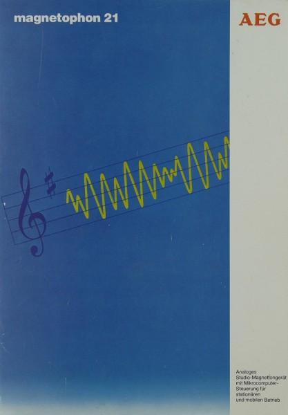 AEG Magnetophon 21 Prospekt / Katalog