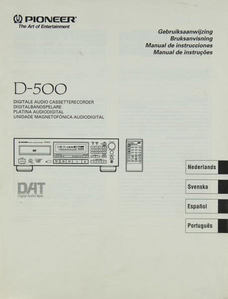 Pioneer D-500 Bedienungsanleitung