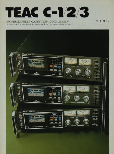 Teac C-1/2/3 Prospekt / Katalog