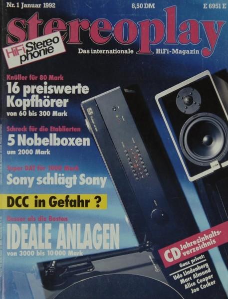 Stereoplay 1/1992 Zeitschrift