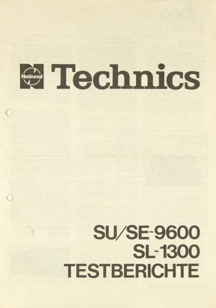 Technics SU/SE-9600 / SL-1300 Testnachdruck