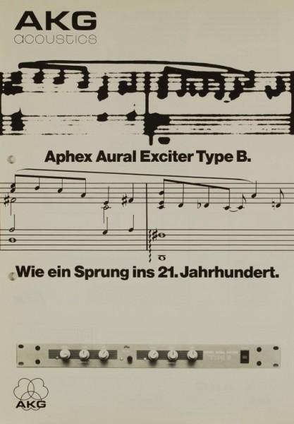 AKG acoustics Aphex Aural Exciter Type B Prospekt / Katalog