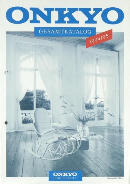 Onkyo Gesamtkatalog 1994/1995 Prospekt / Katalog
