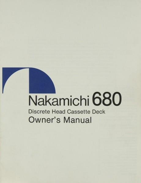 Nakamichi 680 Bedienungsanleitung
