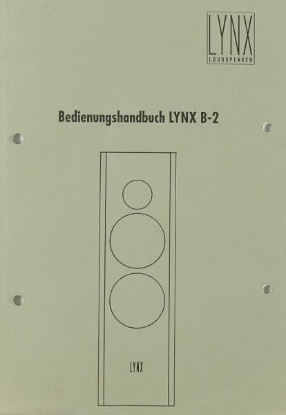 Lynx LYNX B-2 Bedienungsanleitung