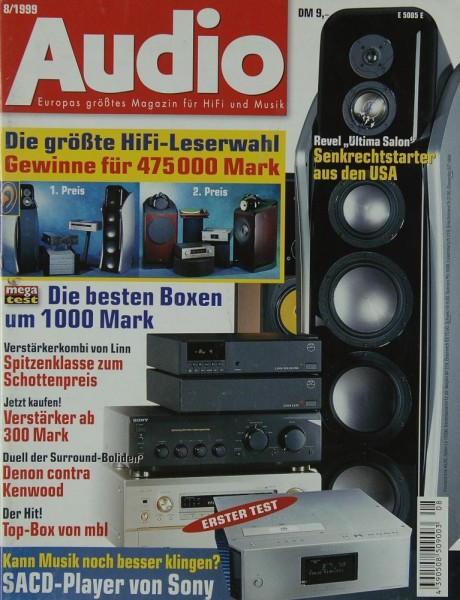 Audio 8/1999 Zeitschrift