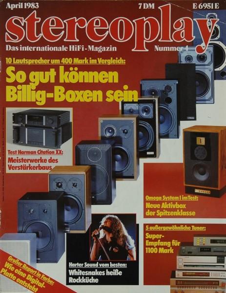 Stereoplay 4/1983 Zeitschrift