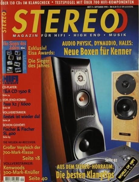 Stereo 9/1998 Zeitschrift