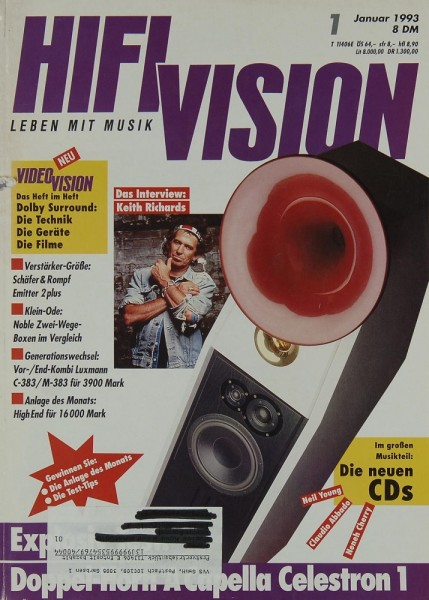 Hifi Vision 1/1993 Zeitschrift