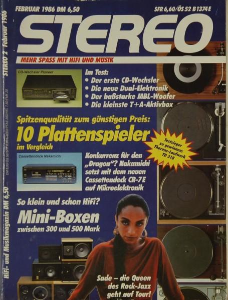 Stereo 2/1986 Zeitschrift