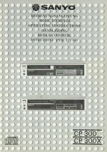 Sanyo CP 300 / CP 300 X Bedienungsanleitung