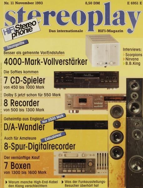 Stereoplay 11/1993 Zeitschrift