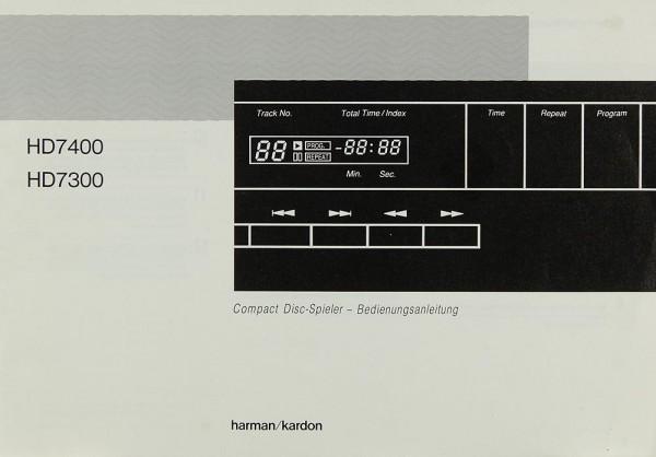 Harman / Kardon HD 7400 / HD 7300 Bedienungsanleitung