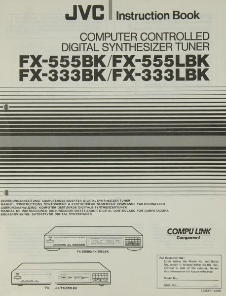 JVC FX-555 BK / FX-555 LBK / FX-333 BK / FX-333 LBK Bedienungsanleitung