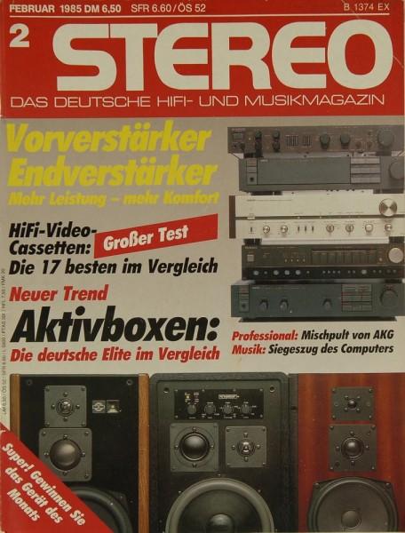 Stereo 2/1985 Zeitschrift