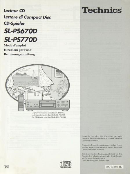 Technics SL-PS 670 D / SL-PS 770 D Bedienungsanleitung