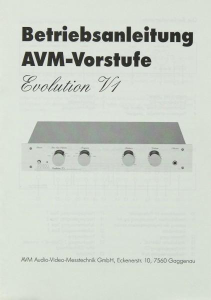AVM Evolution V1 Bedienungsanleitung