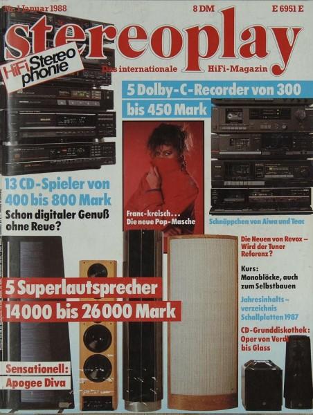 Stereoplay 1/1988 Zeitschrift