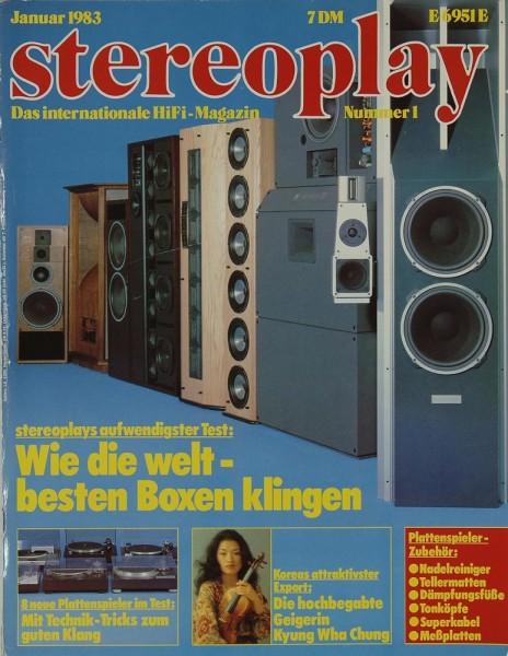 Stereoplay 1/1983 Zeitschrift